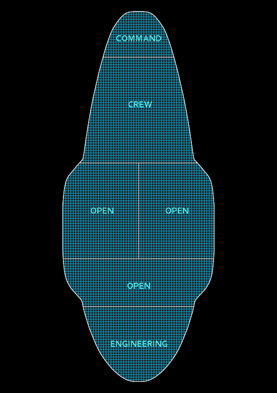 Deck plan of the Xebec