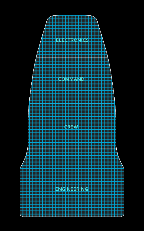 Deckplan of a Venture fitted with a forward Electronic Warfare Section